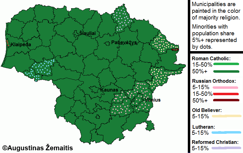 Political and economic maps of Lithuania True Lithuania