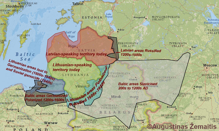 Maps of Lithuania its regions and cities True Lithuania
