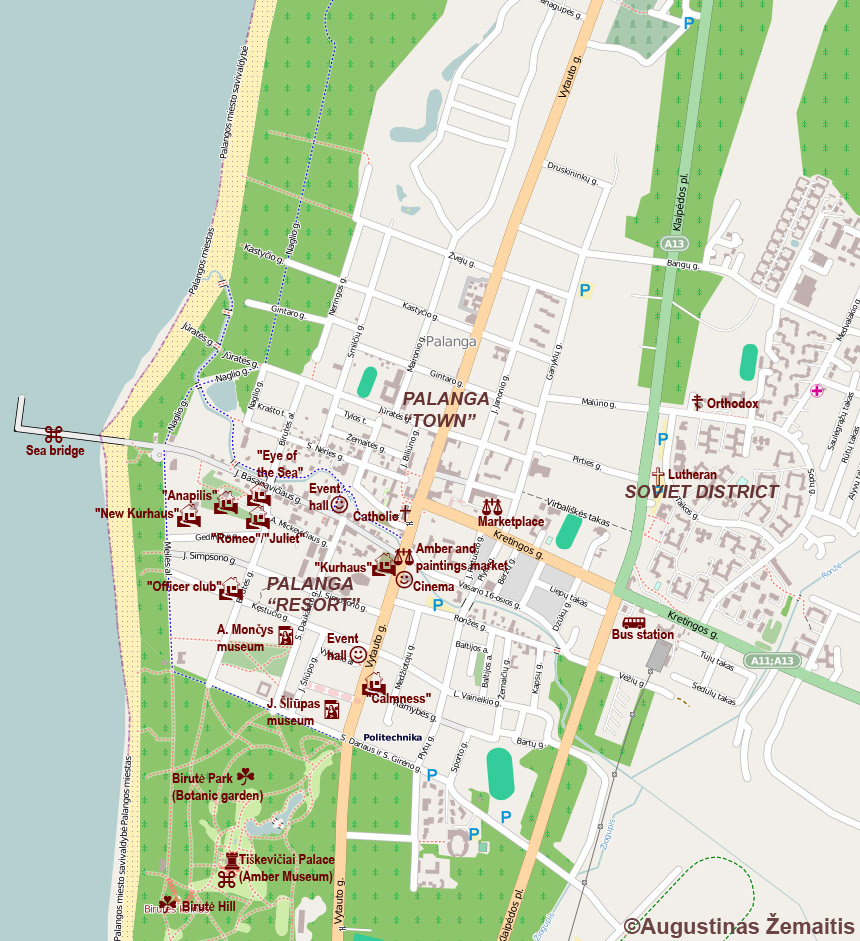 map of palanga