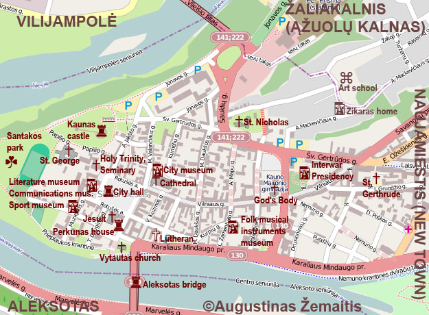 Kaunas tourist maps True Lithuania