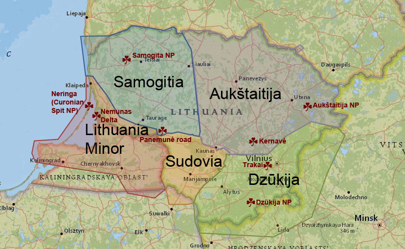 Lithuanias Prettiest Natural Wonders True Lithuania - Lithuania physical map