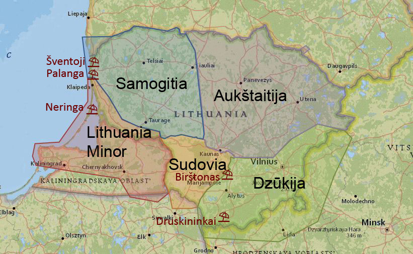 Sights And Tourist Attractions In Lithuania True Lithuania - Lithuania physical map