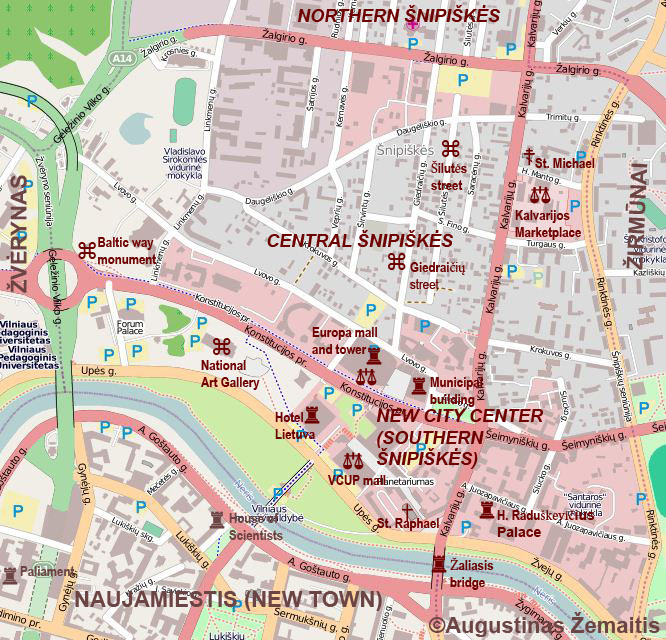 Maps Of Lithuania Its Regions And Cities True Lithuania - Vilnius map