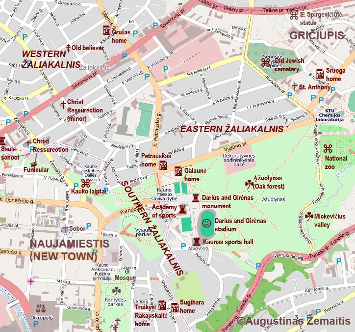 Kaunas Tourist Maps True Lithuania - Kaunas map
