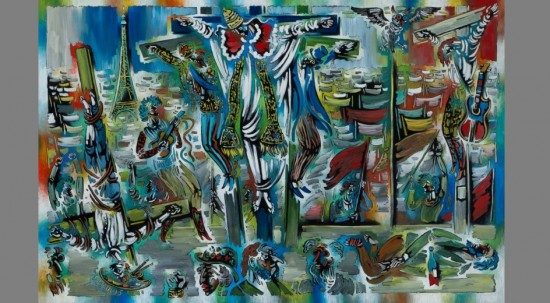 """""""Pope on the Cross"""" by Vytautas Kasiulis"""