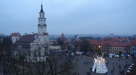 Rotušės (City Hall) square during Christmas
