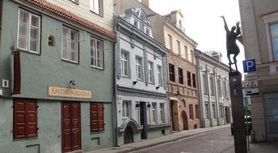 A small street in Vilnius Old Town