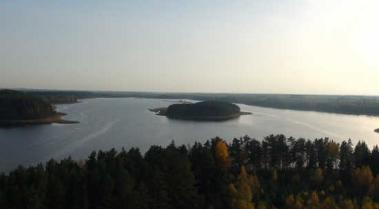 Lake Sartai observation mast panorama