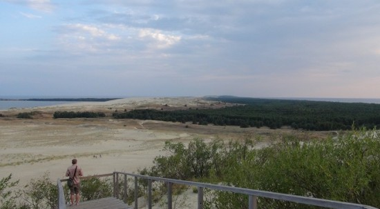 Parnidis sand dune panorama in the Curonian Spit