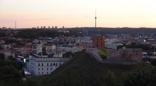 Three Crosses Hill panorama in Vilnius