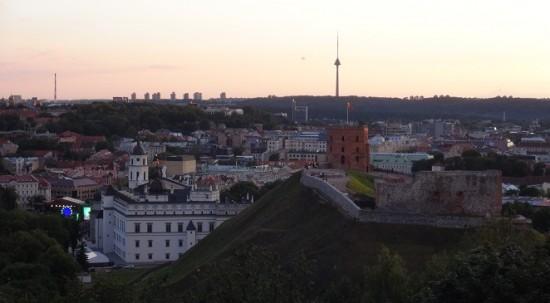 Three Crosses Hill panorama in Vilnius