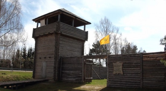 Reconstructed wooden castle in Anykščiai