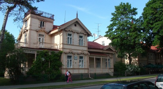 A wooden villa in Druskininkai