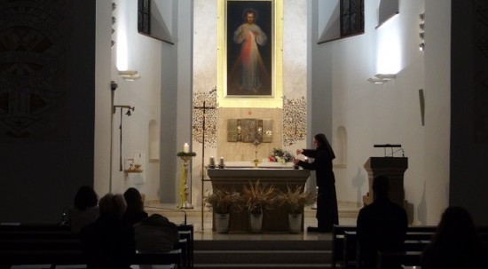 Divine Mercy painting in Vilnius