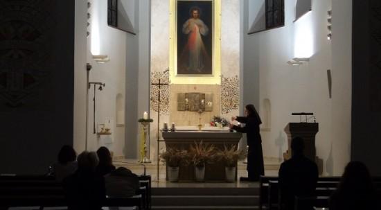 Divine Mercy painting in Vilnius
