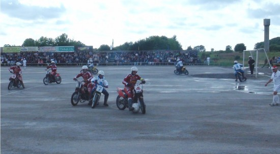 A match of Motoball in Kretinga