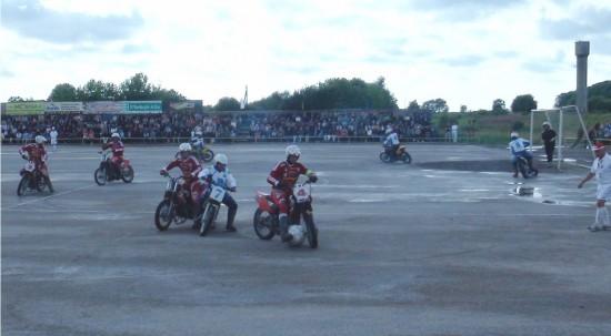 A match of Motoball in Kretinga
