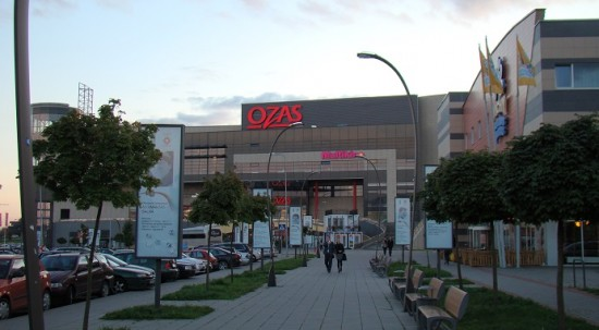 Vilnius water park and Ozas mall