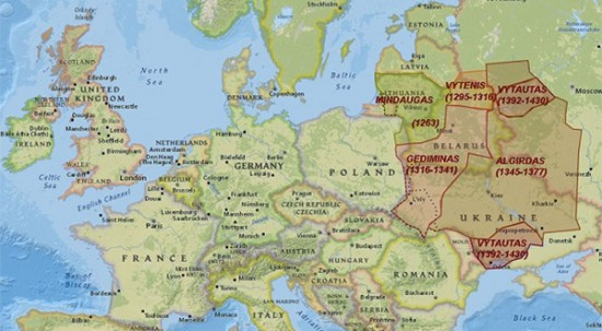 True Lithuania - Lithuania physical map