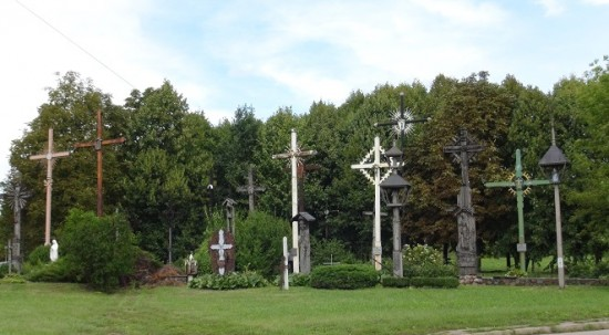 Line of crosses