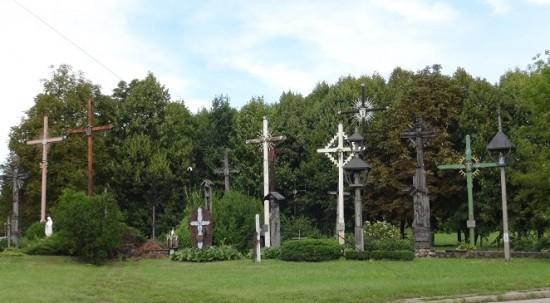 Line of crosses