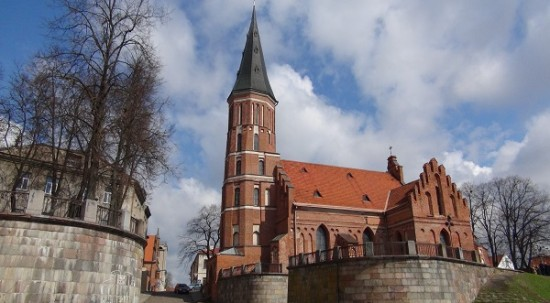 Gothic church in Kaunas