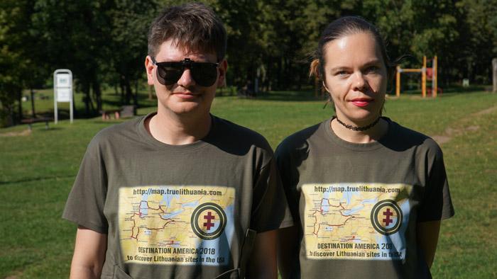 Destination Lithuanian America team: Augustinas Žemaitis and Aistė žemaitienė