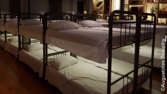 """Immigrant hotels"" were the institutions in Brazil, Argentina and Uruguay where immigrants would temporarily live in crowded conditions until employers would pick them up for job. This room is recreated in Sao Paulo museum of immigration"