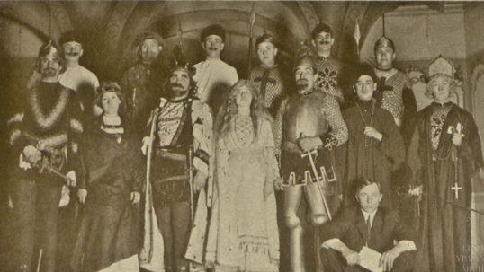 The cast of 1910 preformance Kęstutis based on the history of Lithuania, as acted by Worcester (MA) Lithuanians
