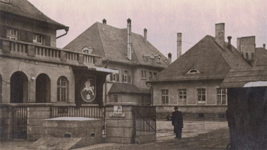 Bamberg Lithuanian DP camp in Germany (with Lithuanian coat of arms)