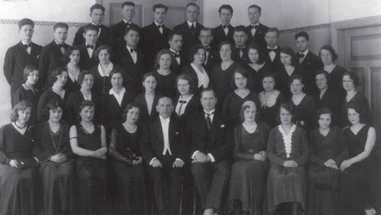 Lithuanian choir of Liepaja, Latvia (then Russian Empire). Even where no Lithuanian buildings were constructed, Lithuanian choirs were an important pillar of ethnic activities