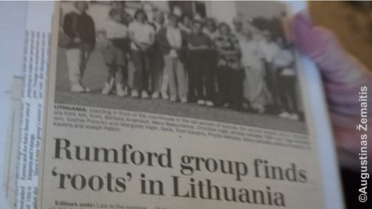 Decades after the closure of Rumford ME Lithuanian club building, grandsons/granddaughters of immigrants have reestablished Lithuanian organization which now organizes annual picnics